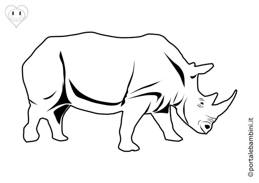 rinoceronti da colorare 3