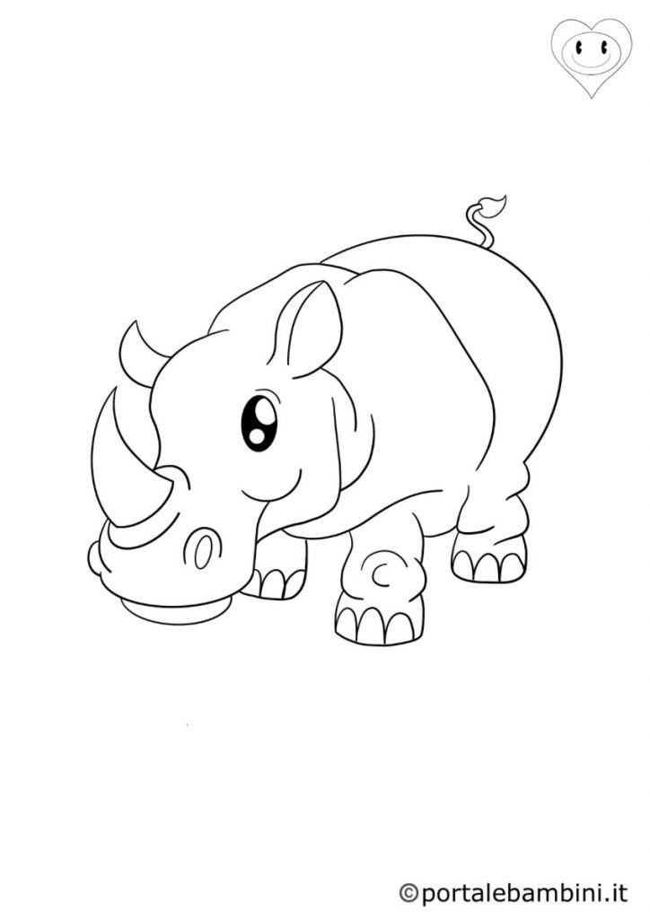 rinoceronti da colorare 4