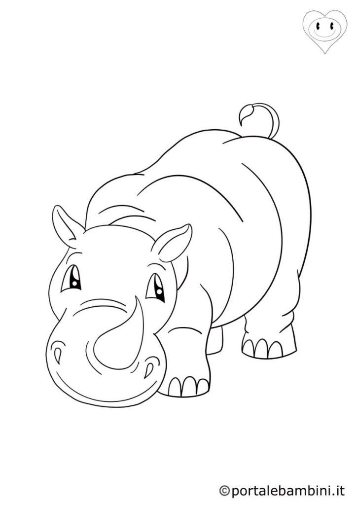 rinoceronti da colorare 5