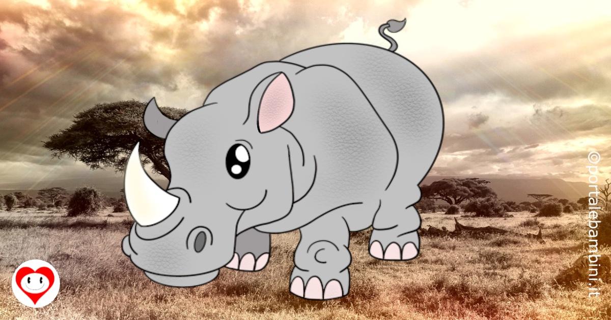 rinoceronti da colorare