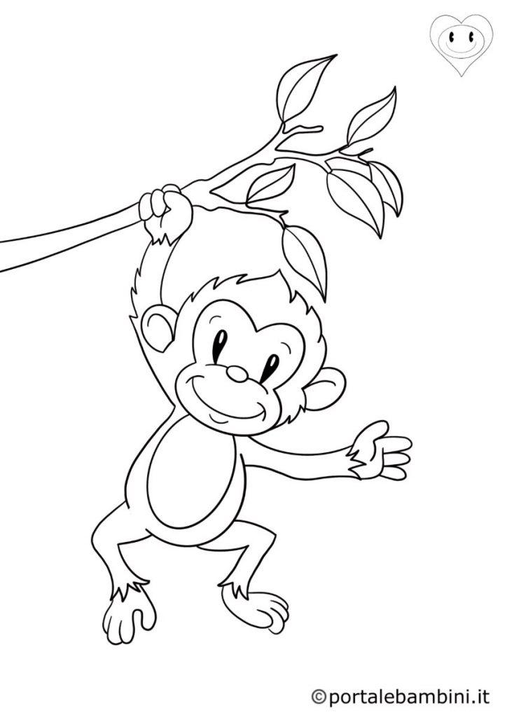 scimmie da colorare 3