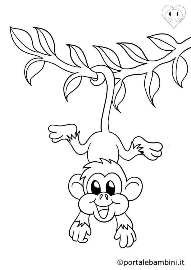 scimmie da colorare 2