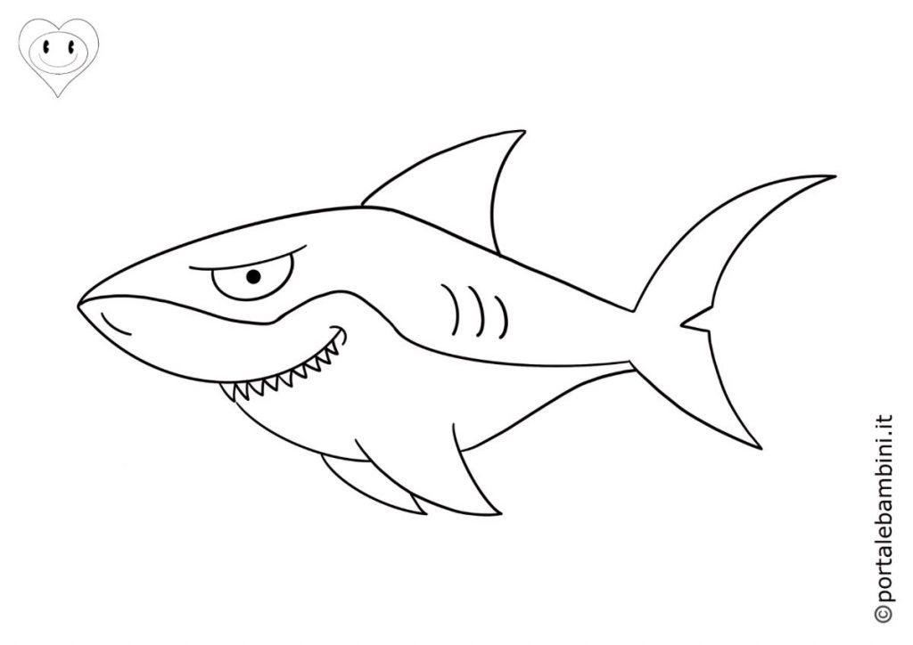 squali da colorare 1
