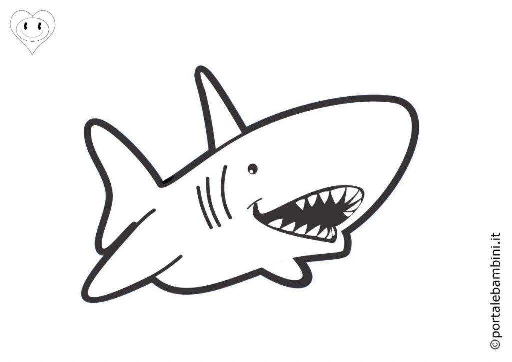 squali da colorare 3