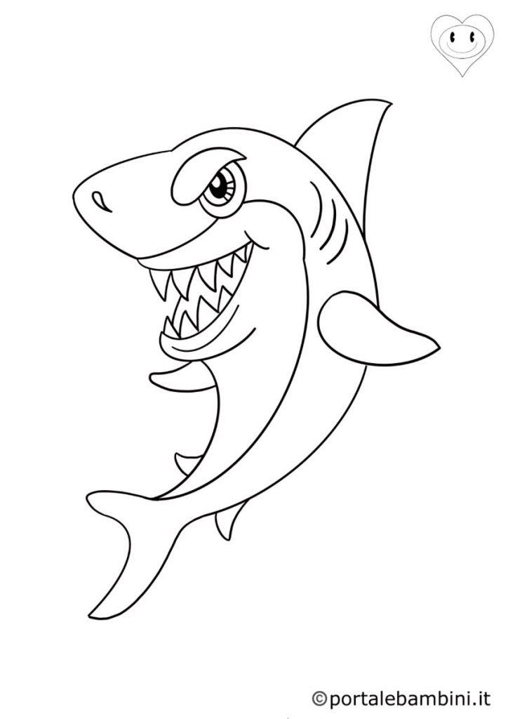 animali del mare da colorare squali
