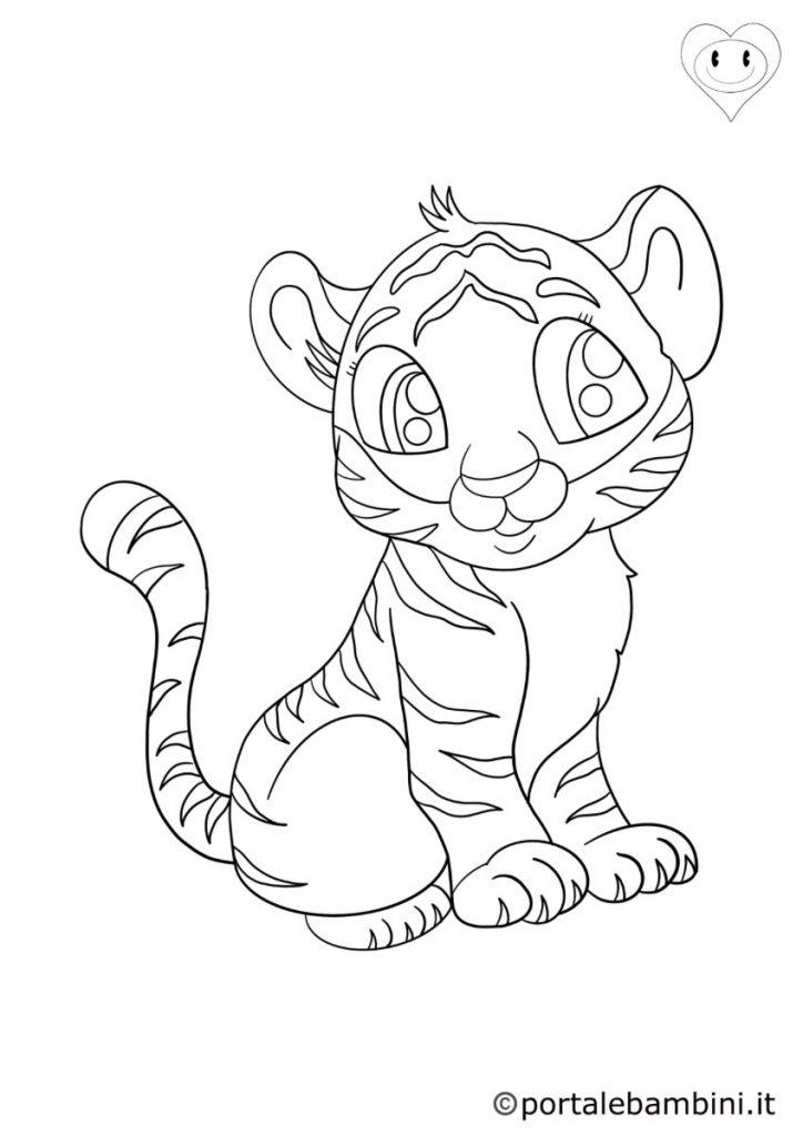 tigri da colorare 2