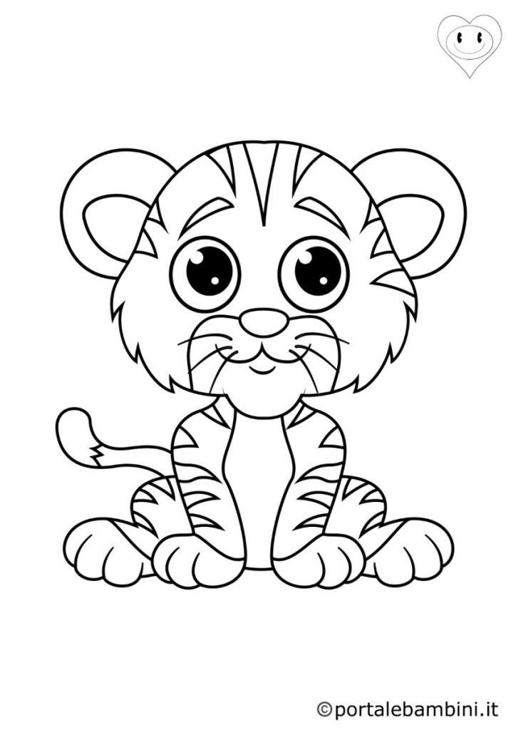 tigri da colorare 3