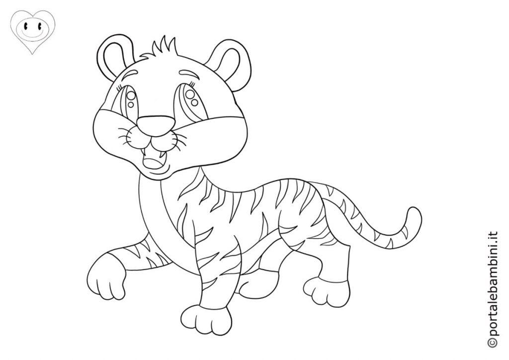 tigri da colorare 4
