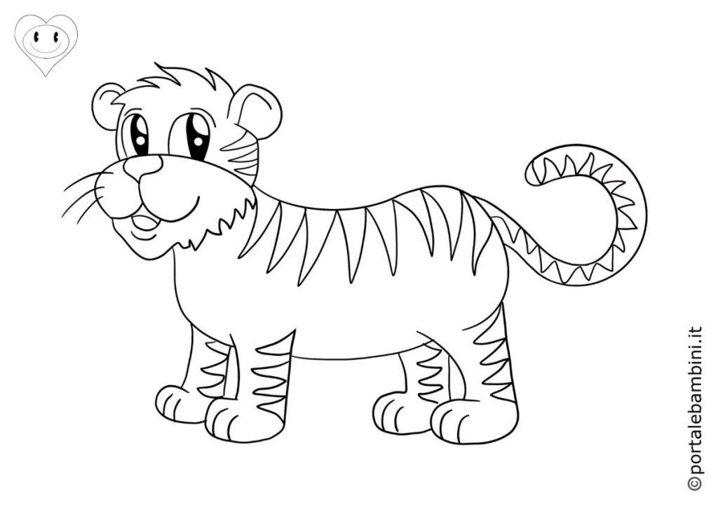 tigri da colorare 5