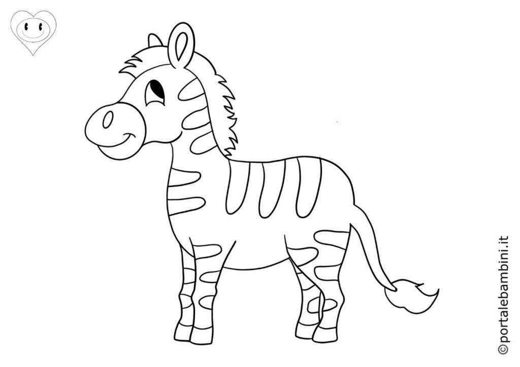 animali della savana da colorare zebre
