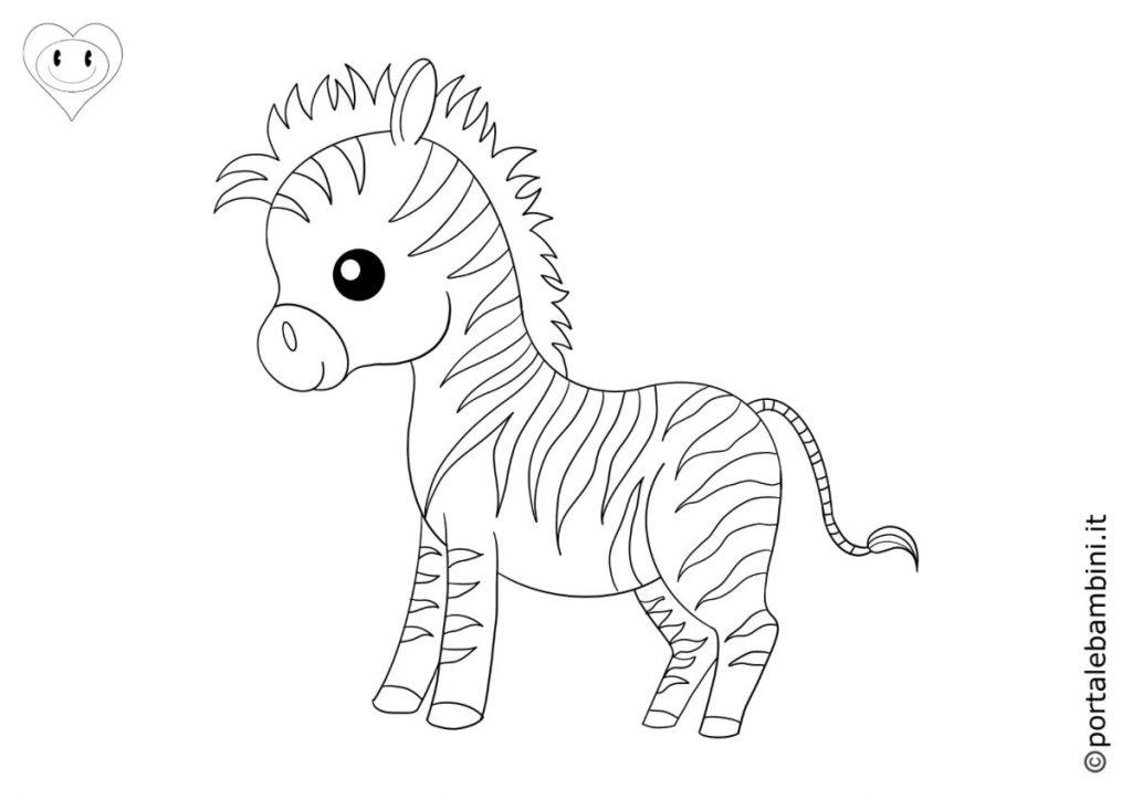 zebre da colorare 2