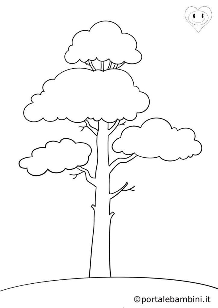 alberi da colorare 2