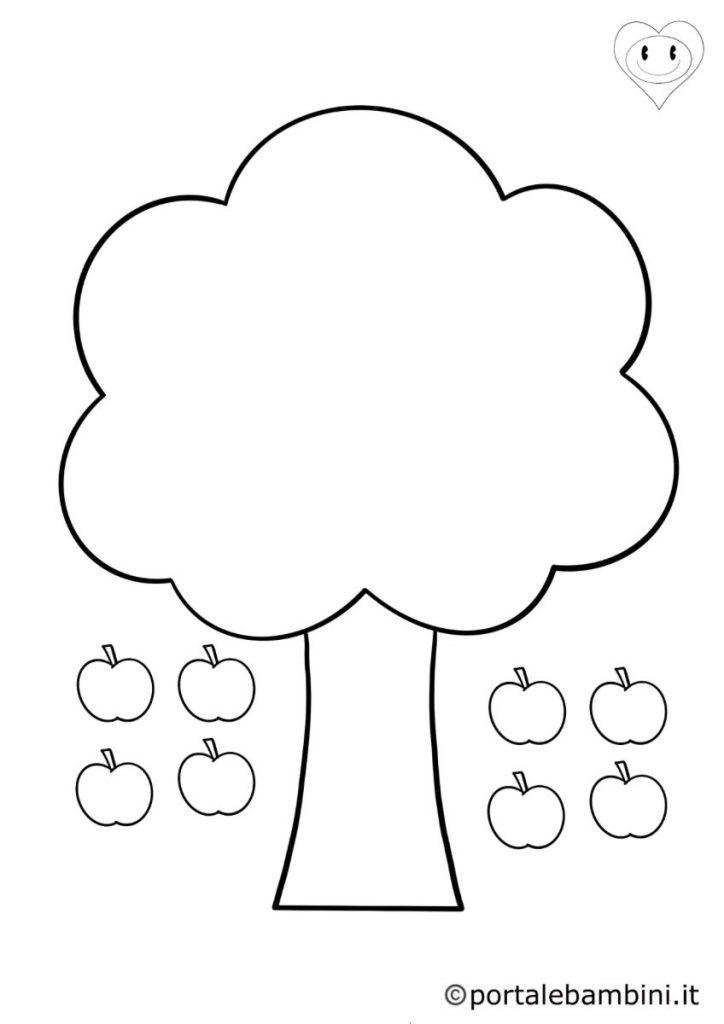 alberi da colorare 4