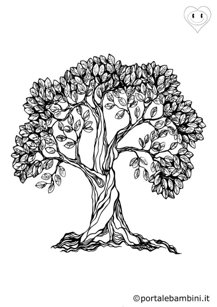 alberi da colorare 5