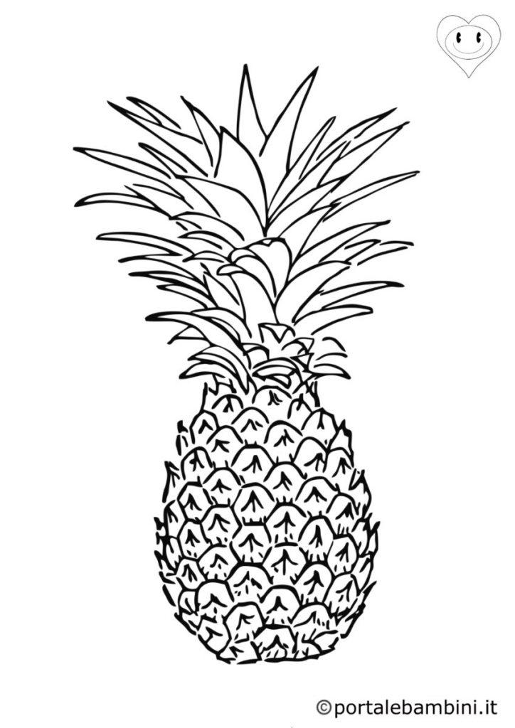 ananas da colorare 4
