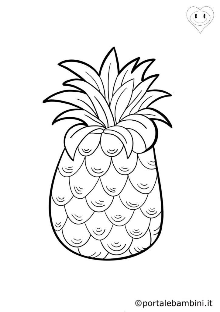 ananas da colorare 3
