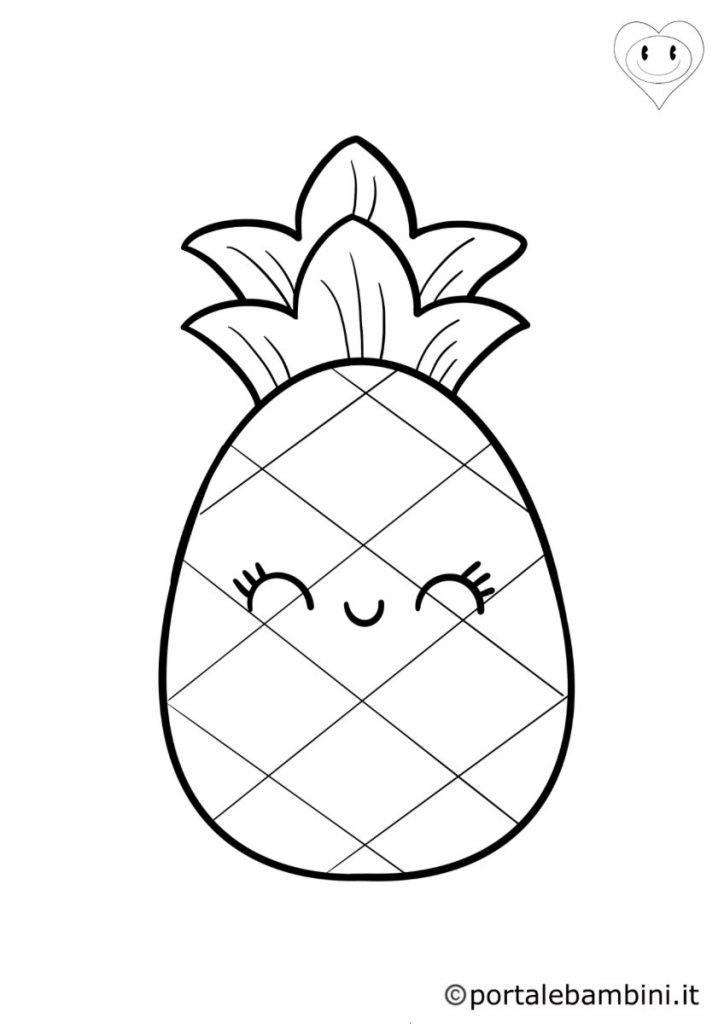 ananas da colorare 2