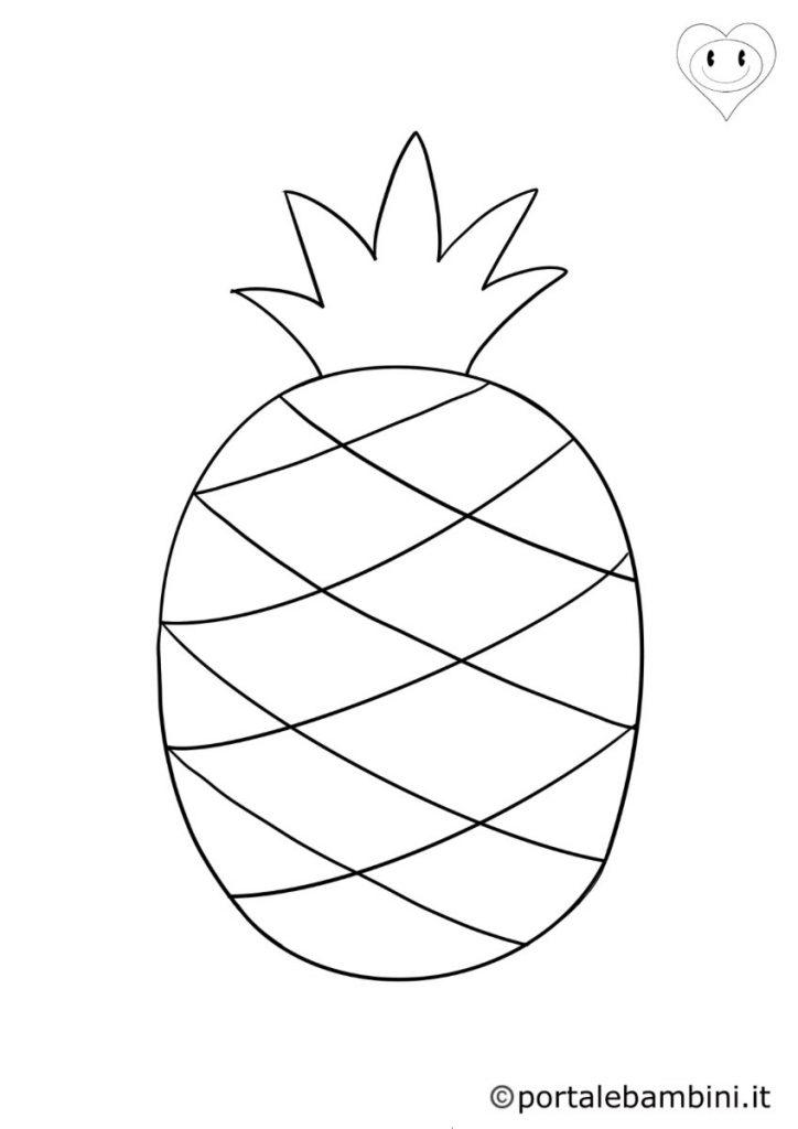 ananas da colorare 1