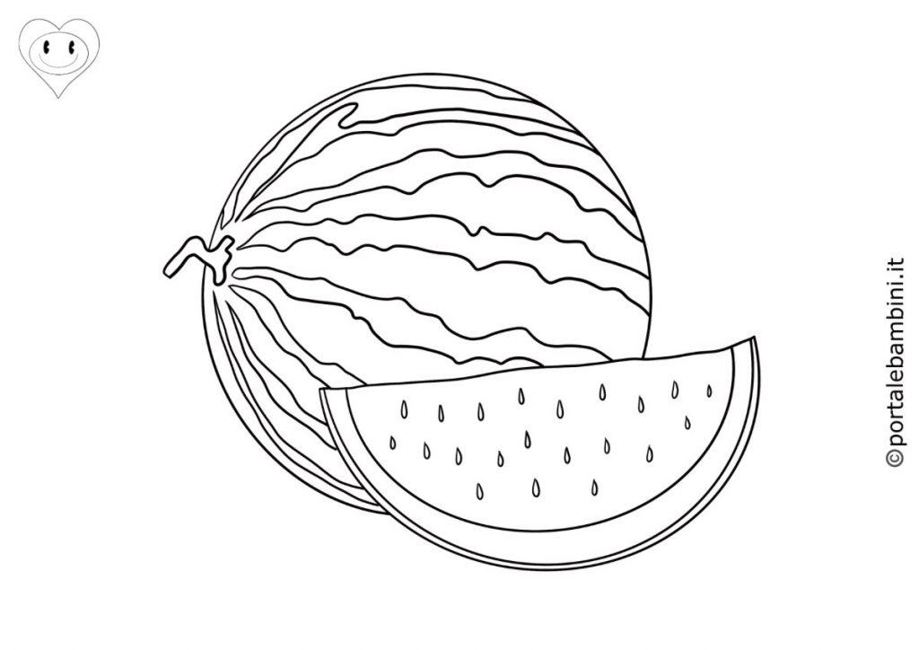 cocomero anguria da colorare 1