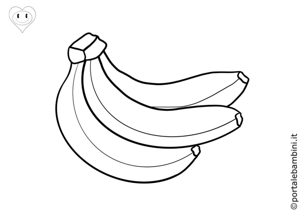 frutta da colorare banana