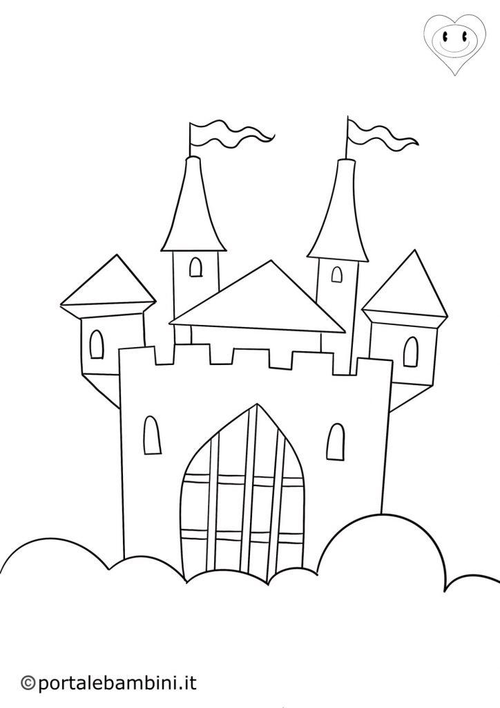 castello da colorare 2