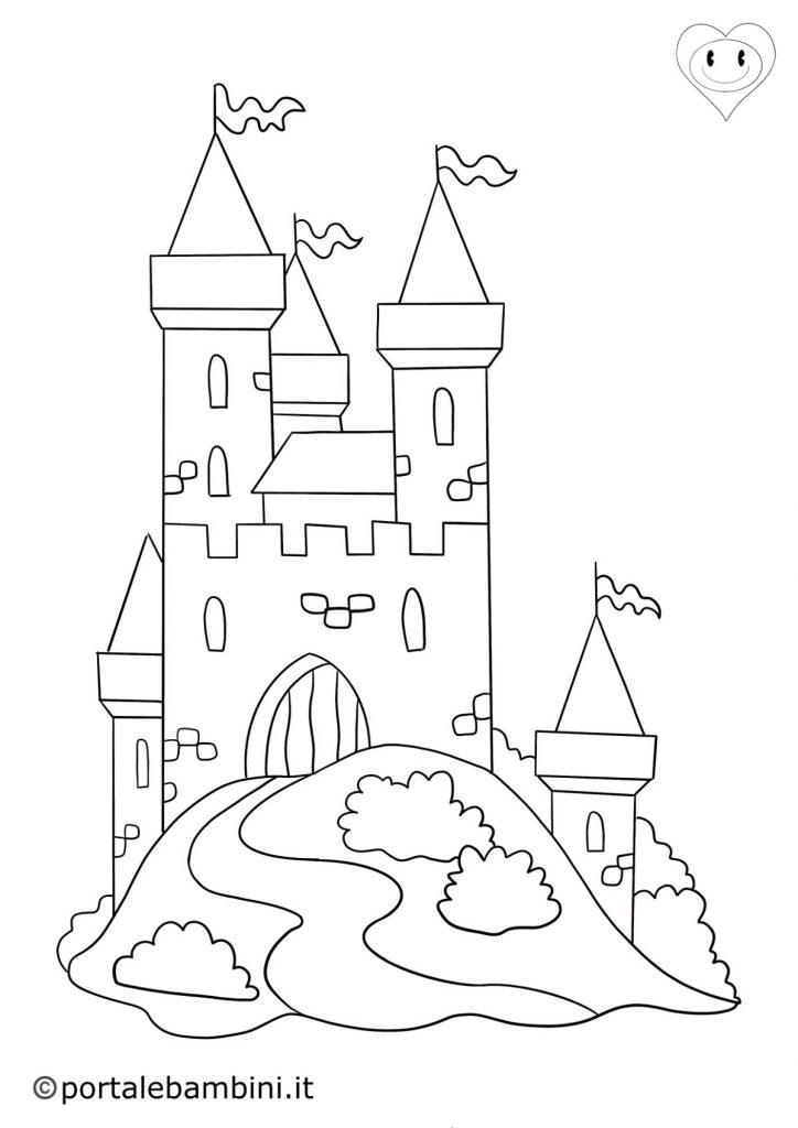 castello da colorare 1