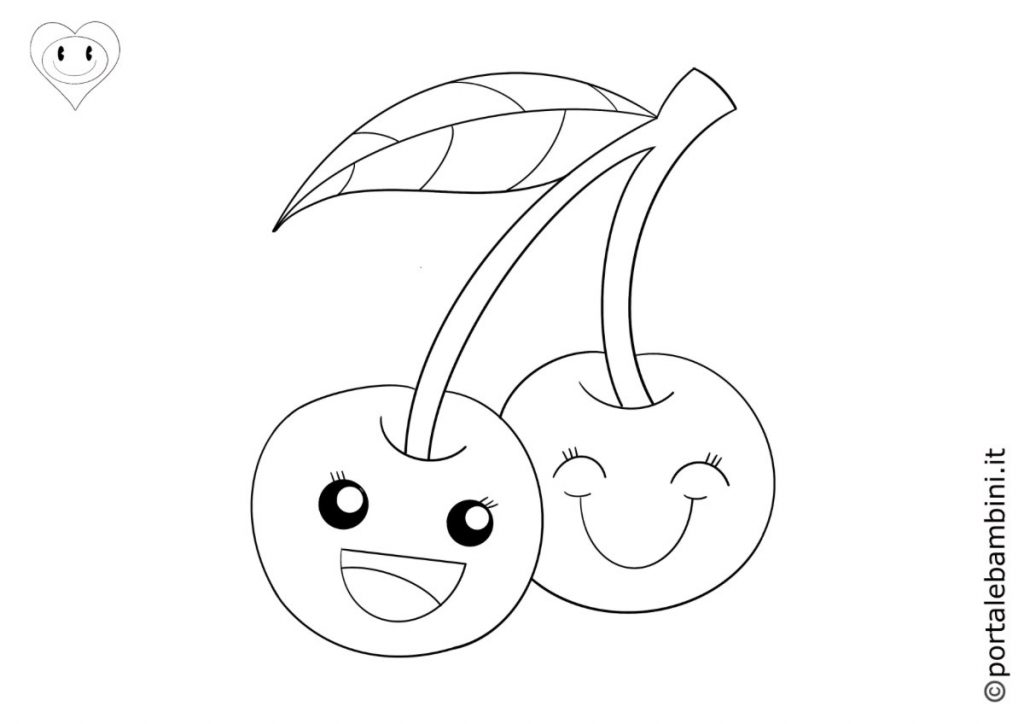 ciliegie da colorare 1