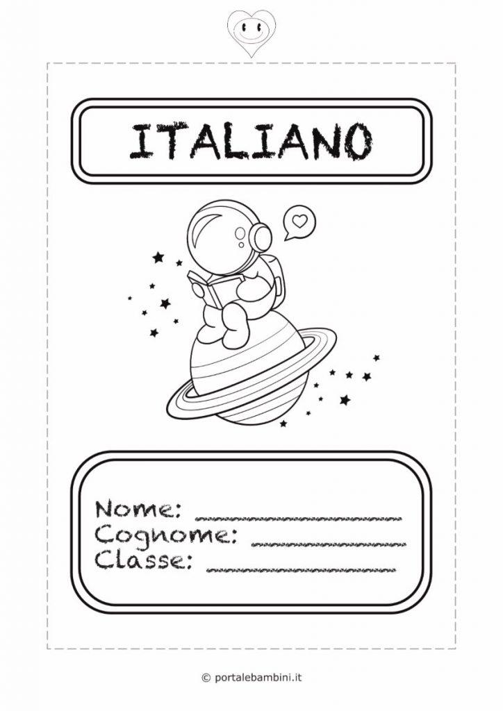 copertina quaderno di italiano 1