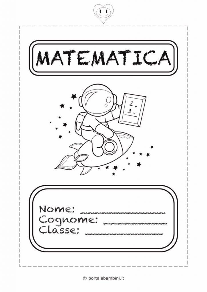 copertine per quaderni di scuola matematica