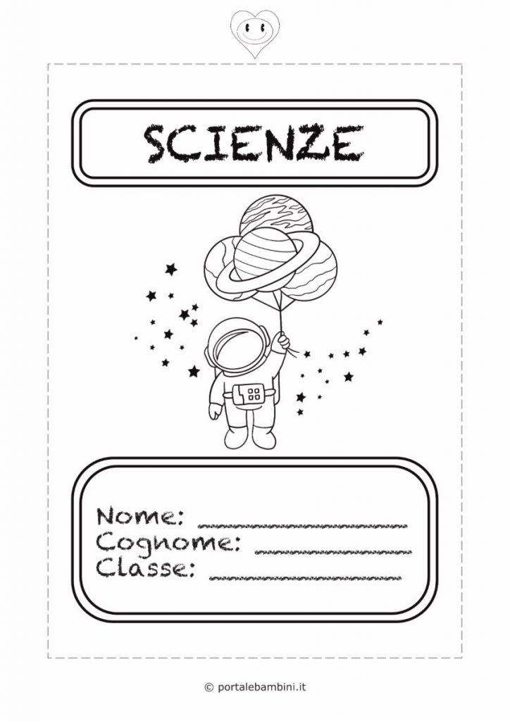 copertine per quaderni di scuola scienze