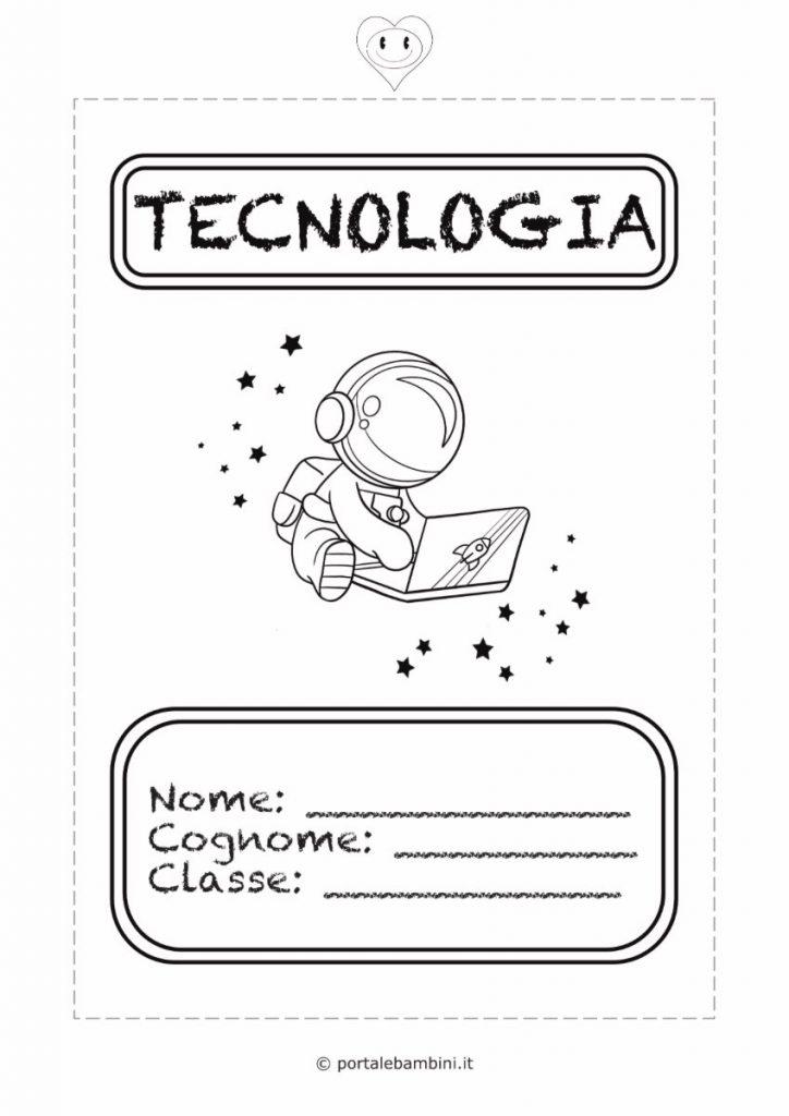 copertine per quaderni di scuola tecnologia