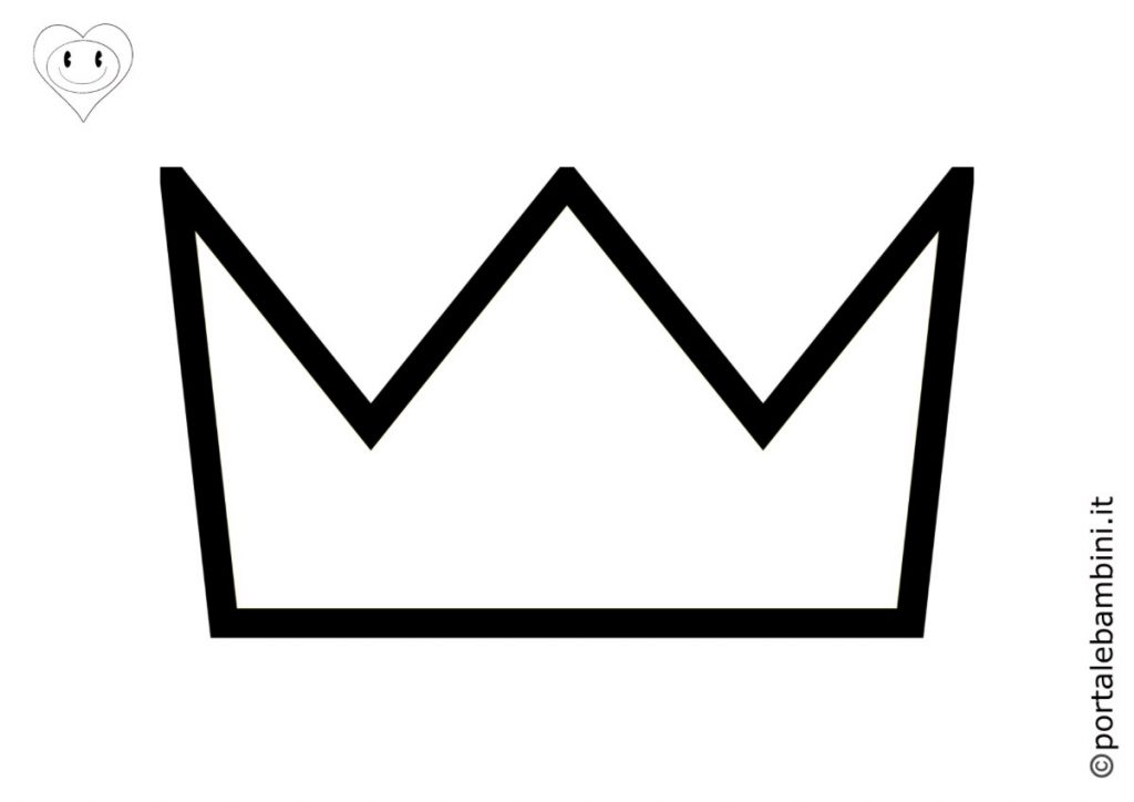 corona da colorare 1