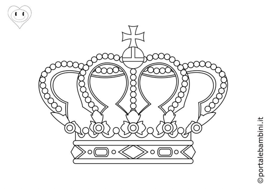 corona da colorare 3