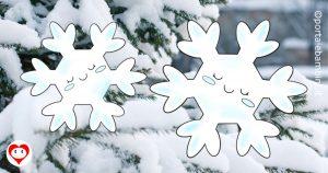 fiocchi di neve da colorare