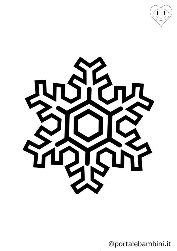 fiocchi di neve da colorare 2