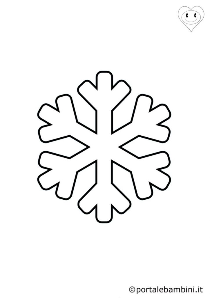 fiocchi di neve da colorare 1