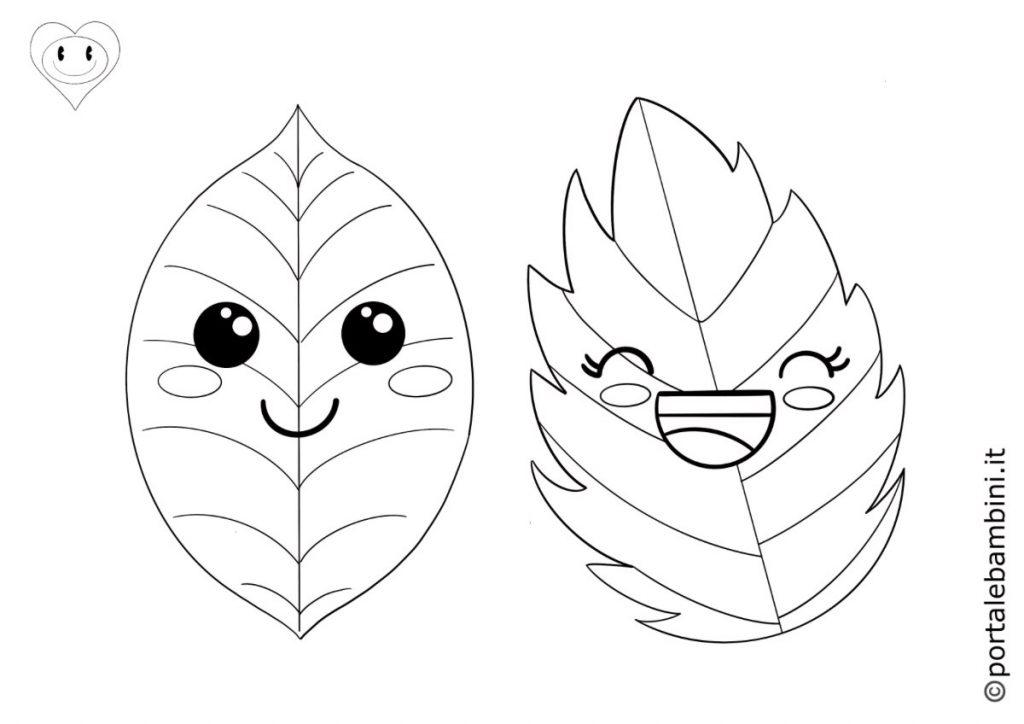 foglie da colorare 5