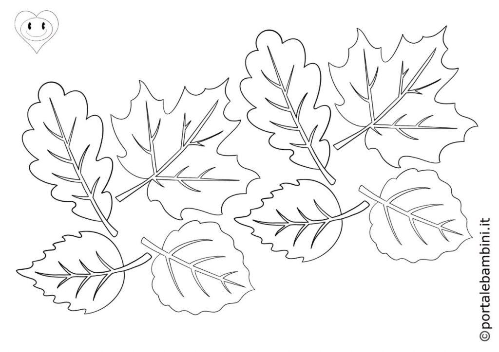 foglie da colorare 6