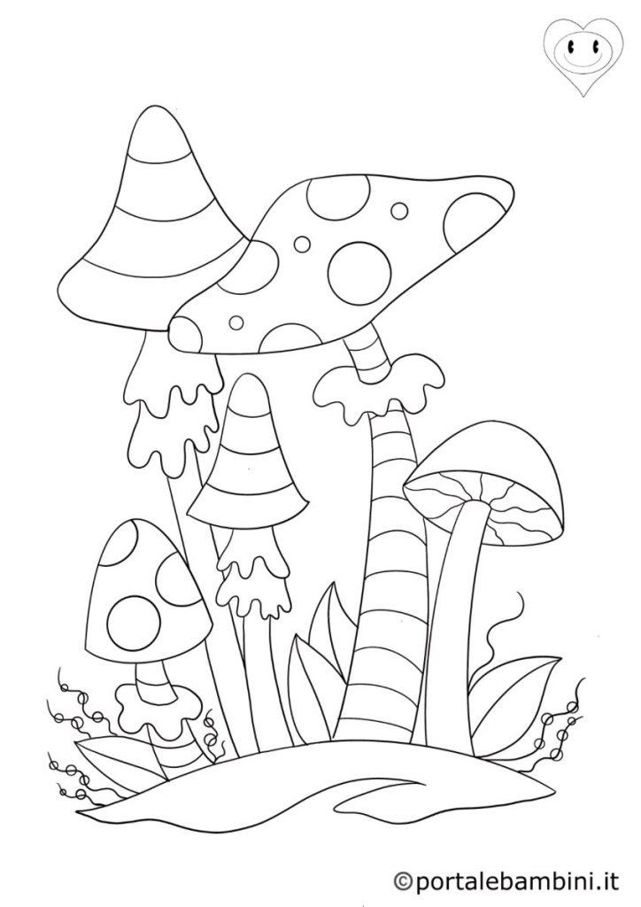 funghi da colorare 1
