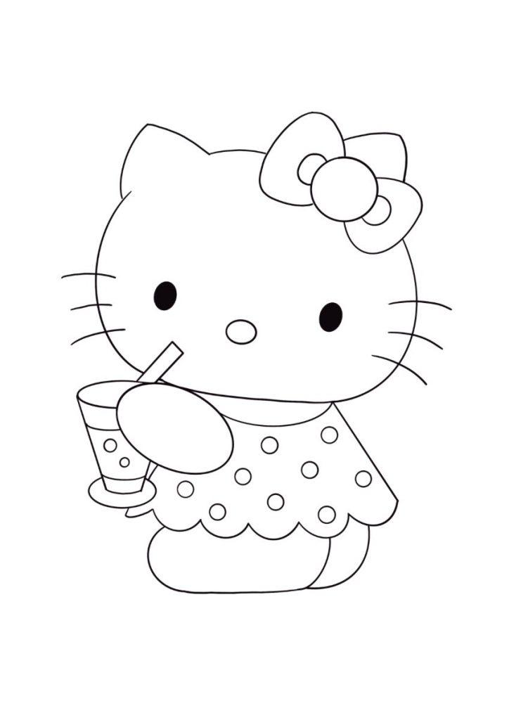 hello kitty da colorare 1