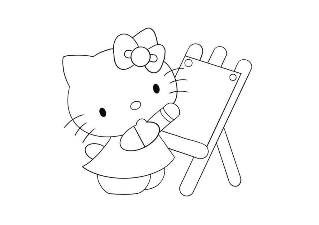 hello kitty da colorare 4