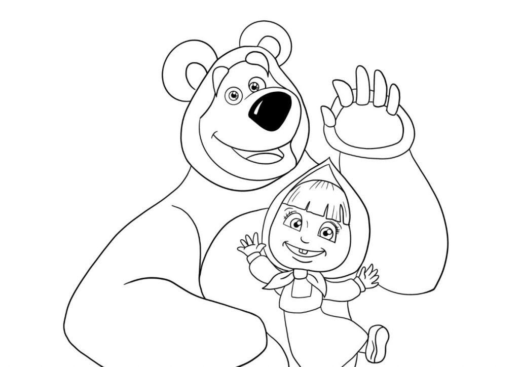 masha e orso da colorare 4