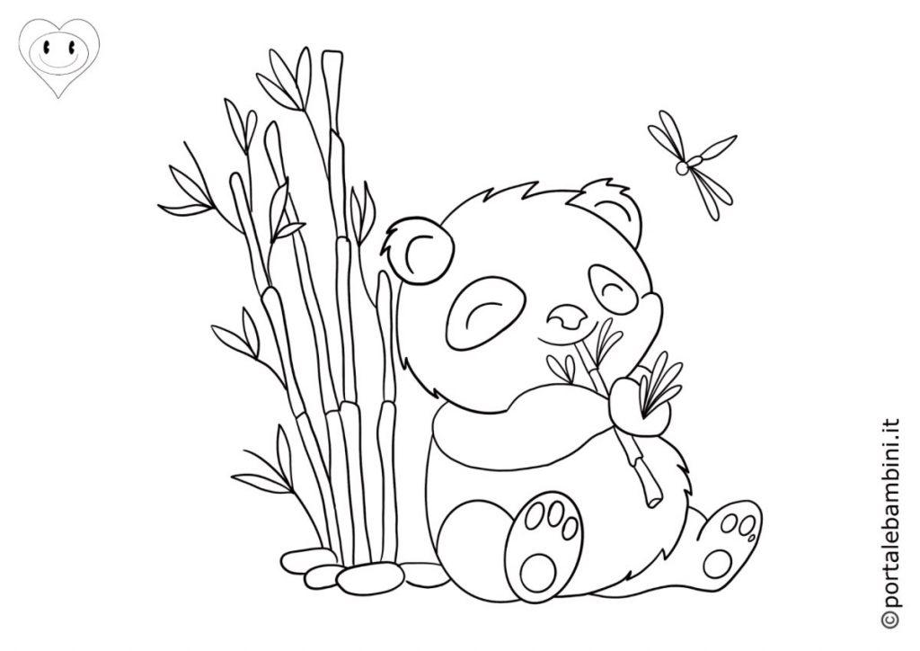 panda da colorare 2