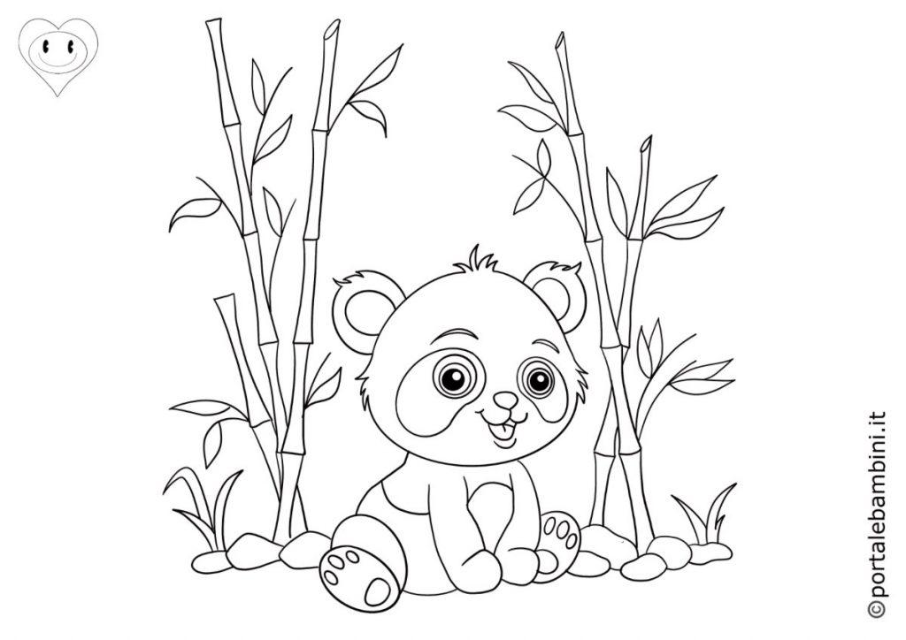 panda da colorare 1