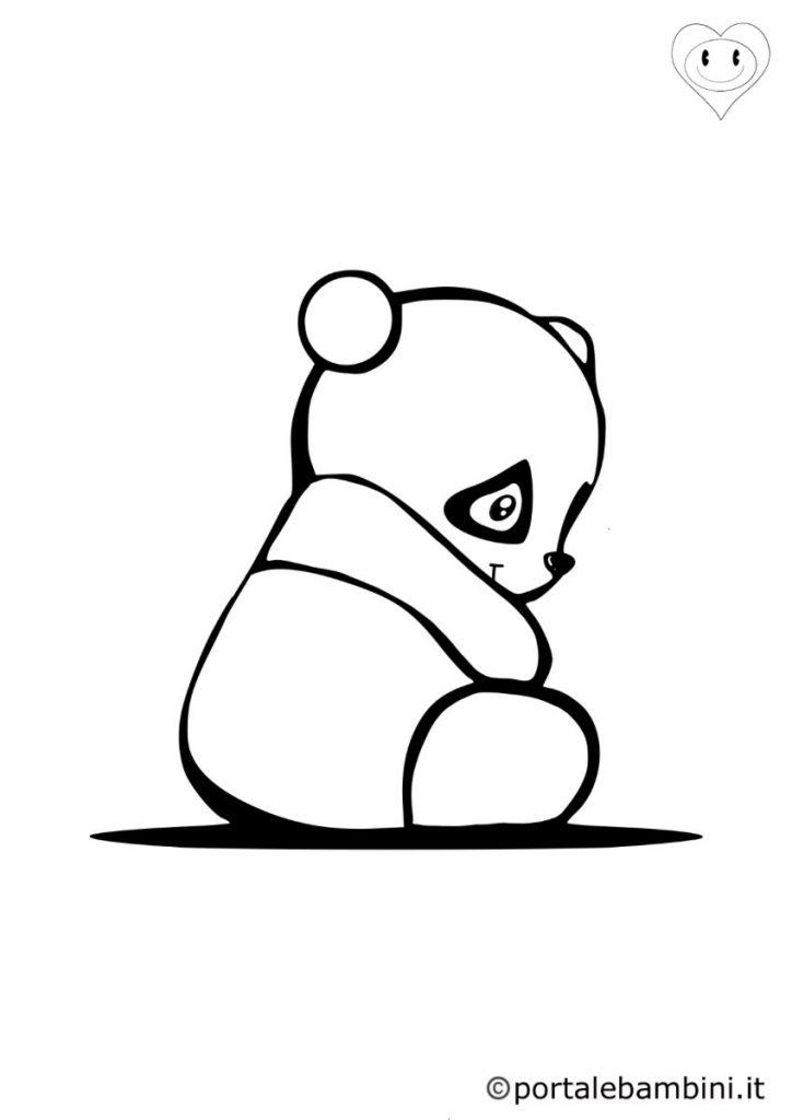panda da colorare 6
