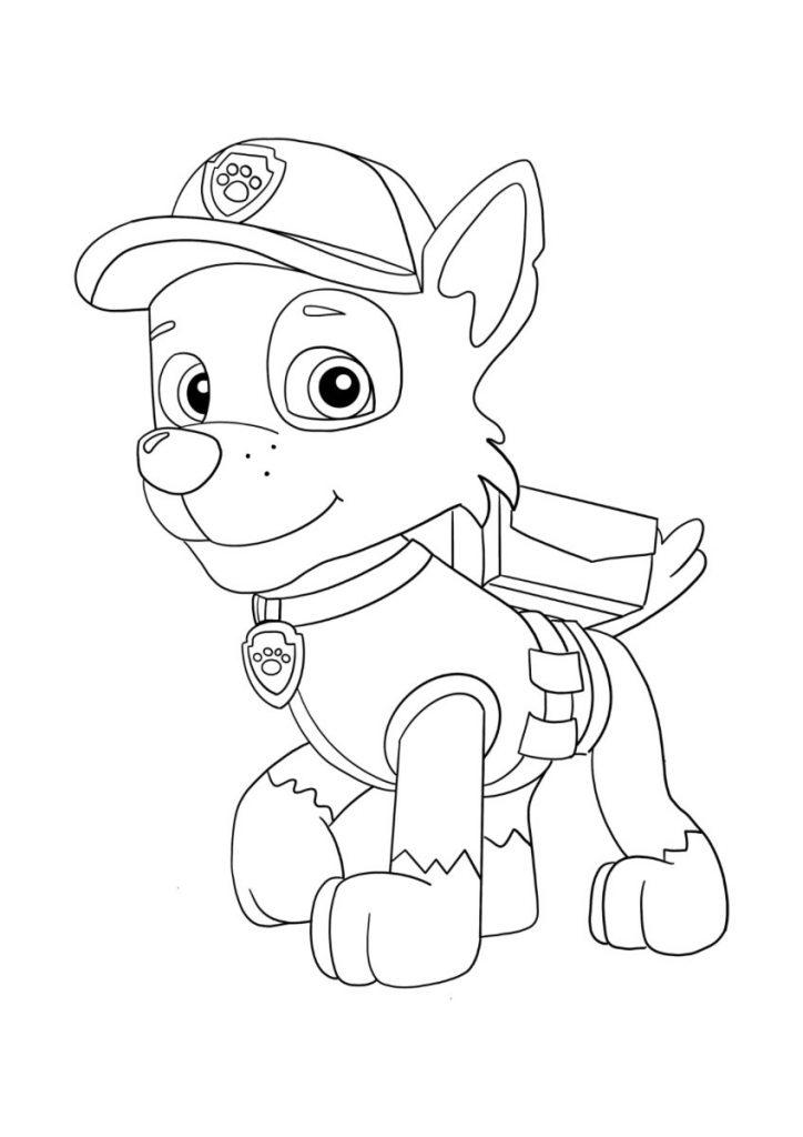 paw patrol da colorare 1