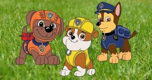 paw patrol da colorare
