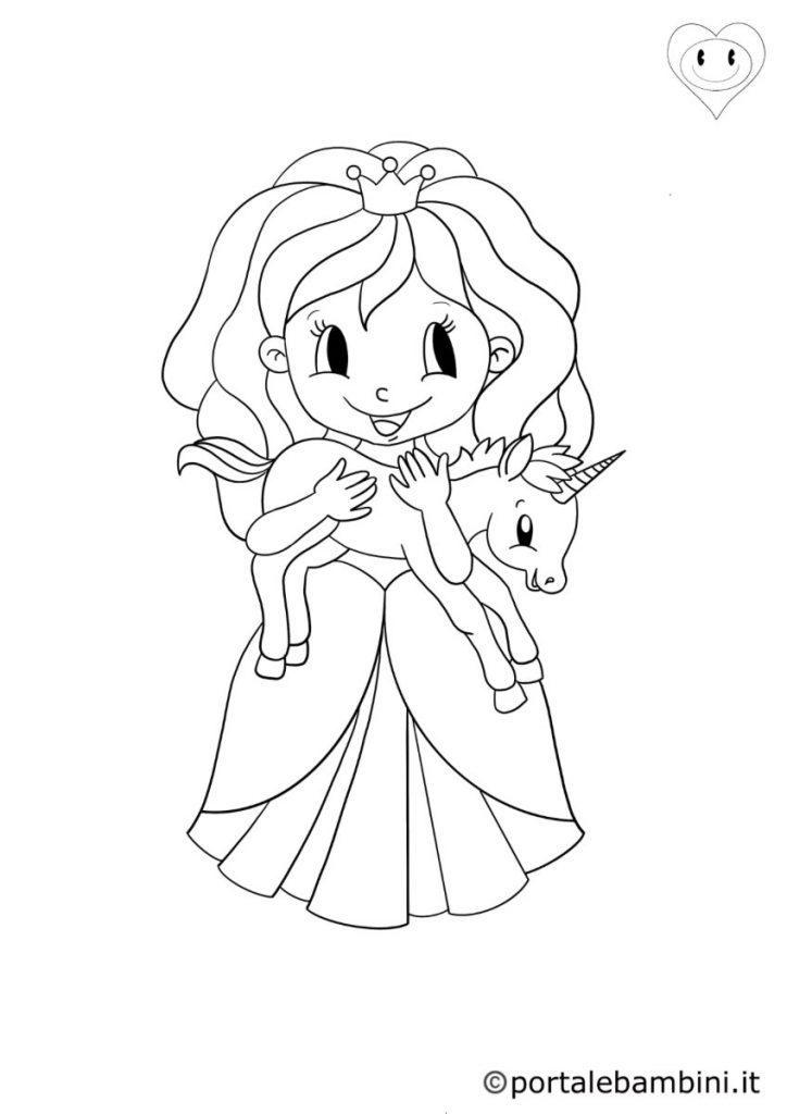 principesse da colorare 1