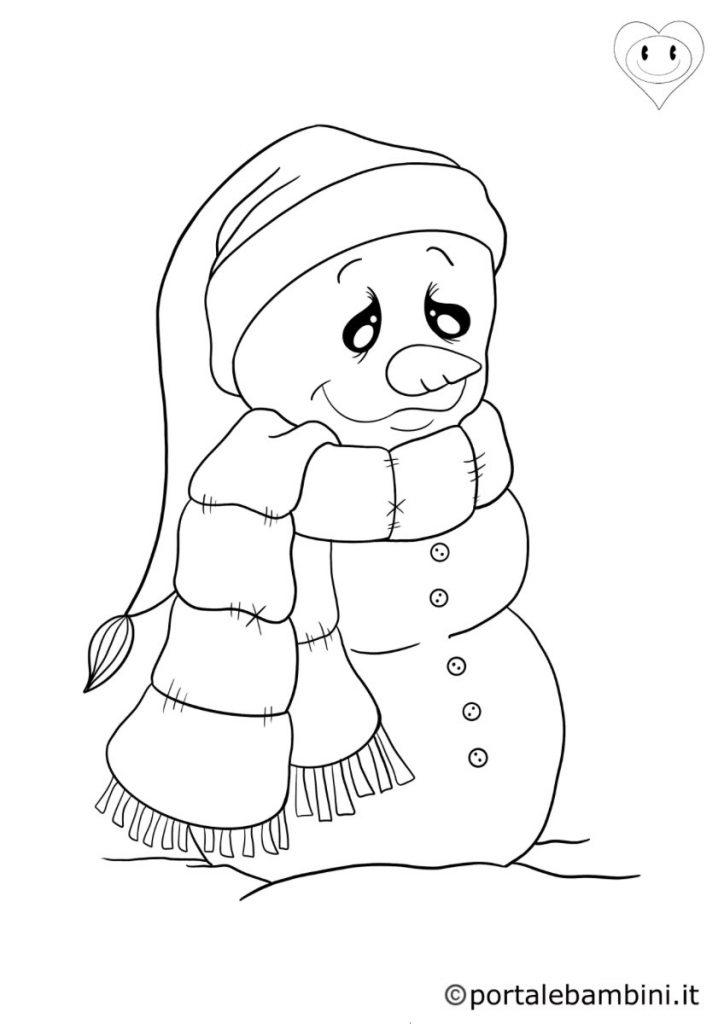 pupazzi di neve da colorare 5