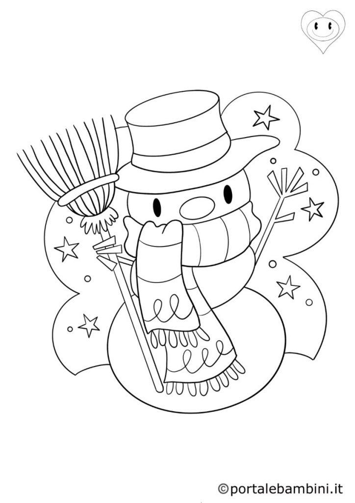 disegni inverno  pupazzi di neve